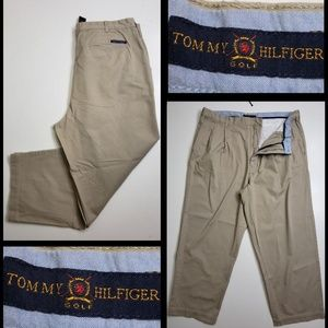 tommy hilfiger men's pleated pants size 40